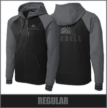 "Load image into Gallery viewer, ""Rise"" Varsity Full-Zip Hooded Jacket - Connell Basketball"