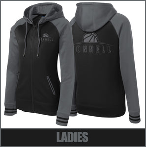 """Rise"" Varsity Full-Zip Hooded Jacket - Connell Basketball"
