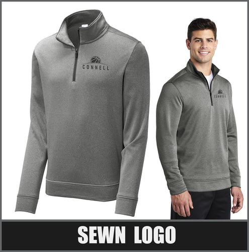 Heather Fleece 1/4-Zip Pullover - Connell Basketball