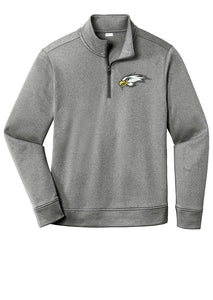 Premium Fleece 1/4-Zip Pullover - Connell Football