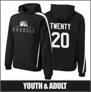 """Rise"" Sleeve Stripe Hoodie - Connell Basketball"
