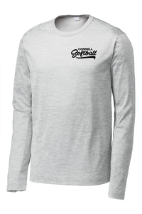 """Swoosh"" Long Sleeve Performance T-Shirt - CHS Softball"