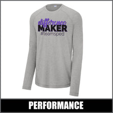 "Load image into Gallery viewer, ""Difference Maker"" Tri-Blend Long Sleeve - #teamsped"
