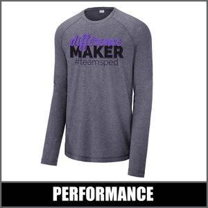 """Difference Maker"" Tri-Blend Long Sleeve - #teamsped"