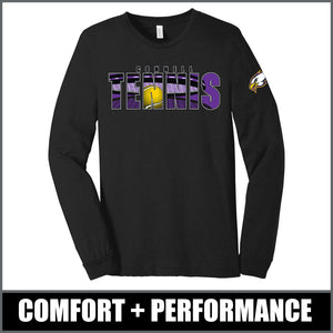 """Shadow"" Long Sleeve Tri-Blend - CHS Tennis"