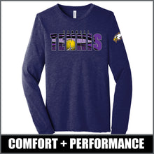 "Load image into Gallery viewer, ""Shadow"" Long Sleeve Tri-Blend - CHS Tennis"