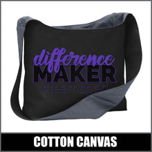 "Load image into Gallery viewer, ""Difference Maker"" Sling Bag - #teamsped"