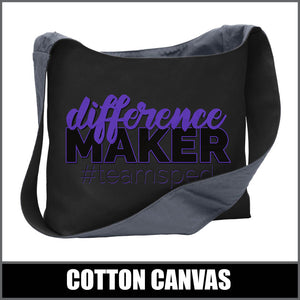 """Difference Maker"" Sling Bag - #teamsped"
