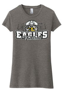 Women's Fitted Tri-Blend T-Shirt - Connell Football