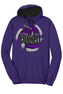 Fleece Hoodie - Connell Volleyball 2018