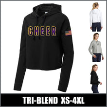 "Load image into Gallery viewer, ""Bold"" Ladies Fleece Crop Hoodie - Connell Cheer"
