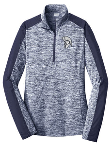 Standard or Ladies Electric Heather 1/4 Zip - Olds Jr High