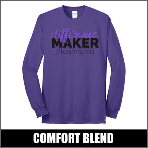 """Difference Maker"" Long Sleeve - #teamsped"