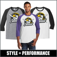 "Load image into Gallery viewer, ""Mullet"" 3/4-Sleeve Raglan Tee - CHS Baseball"