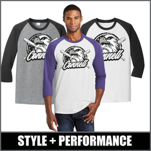 """Regal"" 3/4-Sleeve Raglan Tee - CHS Baseball"
