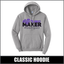 "Load image into Gallery viewer, ""Difference Maker"" Hoodie - #teamsped"