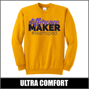 """Difference Maker"" Crewneck Sweater - #teamsped"