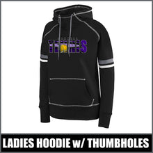 "Load image into Gallery viewer, ""Shadow"" Ladies Spry Hoodie - CHS Tennis"