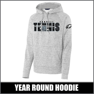 """Shadow"" Electric Heather Hoodie - CHS Tennis"
