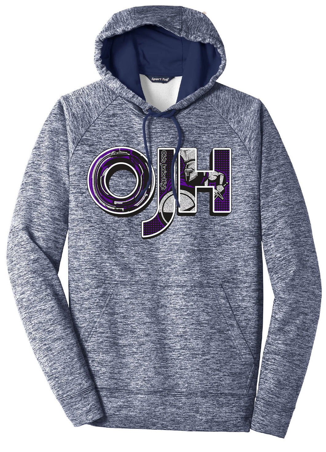 Standard or Ladies Electric Heather Hoodie - Olds Jr High
