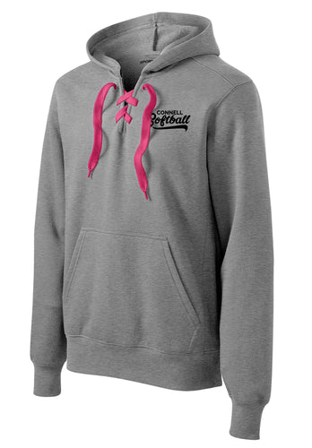 Lace-Up Pullover Hoodie - CHS Softball 2019