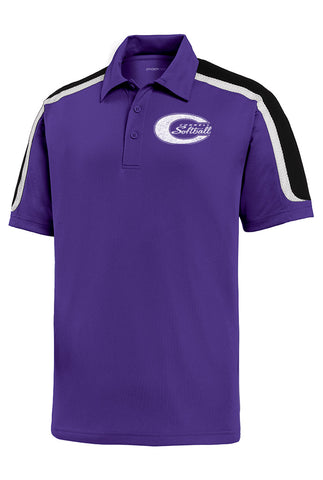 Sport-Tek® Tricolor Micropique Polo - CHS Softball