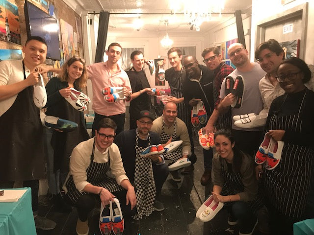 December 19: SVB Team Outing- Sneaker Painting