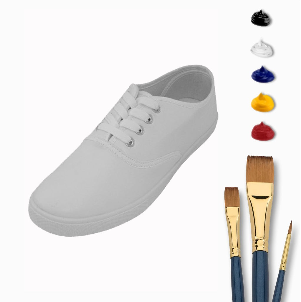 Complete Lace-Up Sneaker Painting At Home Kit