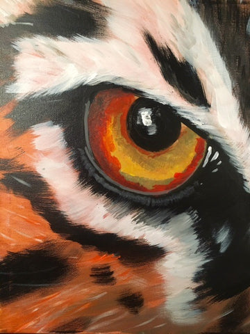 Tiger eye painting