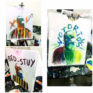 November 24: Big Poppa T-Shirt Painting Class (5-7pm)