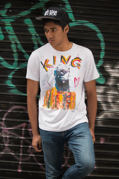 King Biggie Hand-Painted T-Shirt