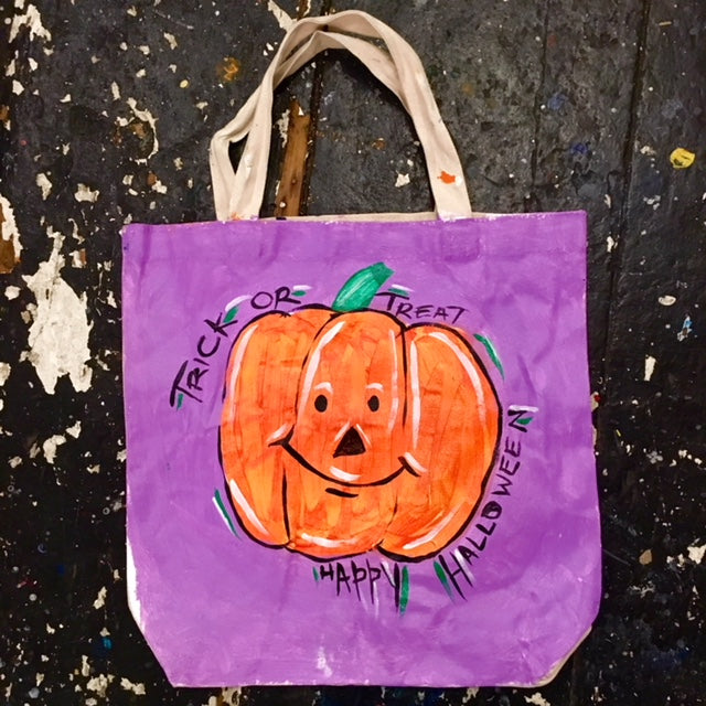 Paint and (Fruit) Punch- Pumpkin Spice Treat Bag