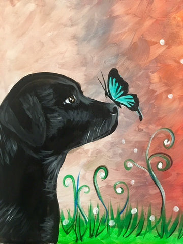 Black Lab Butterfly Kisses