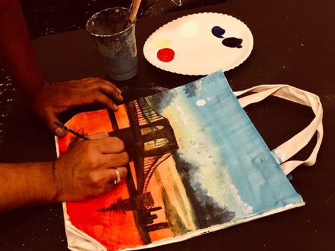 Complete Tote Bag Painting At Home Kit