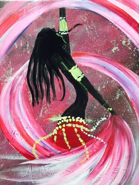 Belly Dancer Paint and Sip