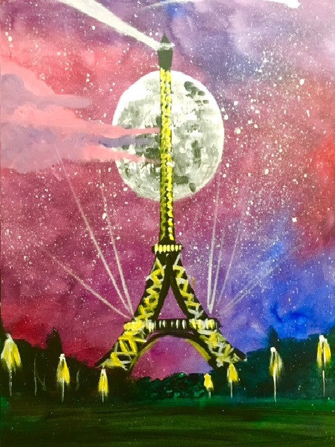 Paris painting, Eiffel tower