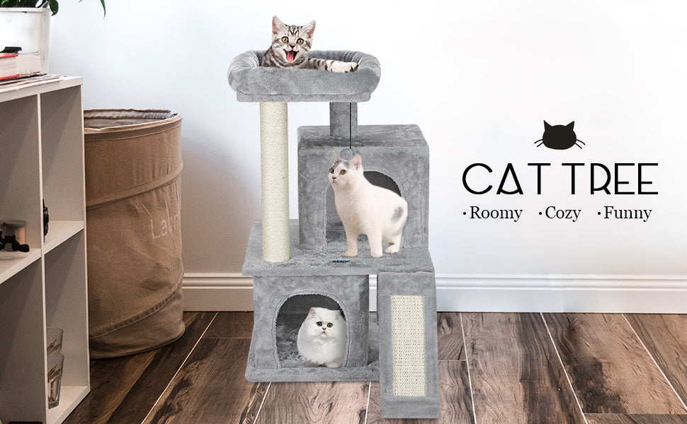 "Zeny 34"" Cat/Kitten Tree Tower w/Scratching Posts"
