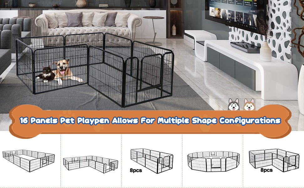 Zeny 16 Panels Dog Play Pen