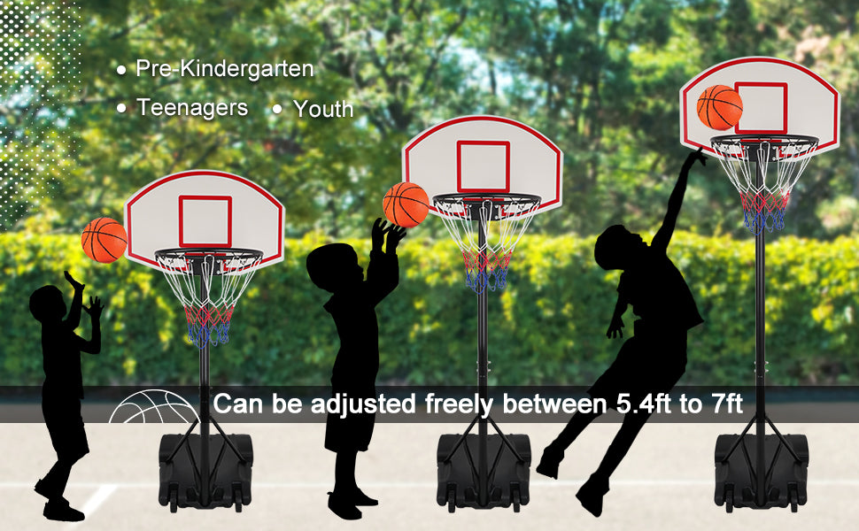 Zeny kids basketball hoop system