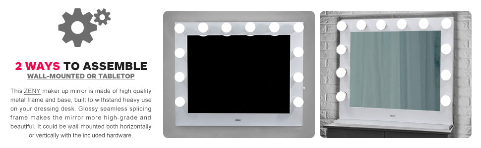 Zeny Hollywood Mirror Dimmable Light Vanity