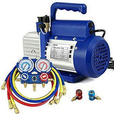 ZENY™ 3.5/4CFM VP125/VP135 Single-Stage Rotary Vane Vacuum Pump 1/4HP HVAC Air tool R410a R134