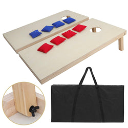 ZENY™ 4' x 2'/ 3' x 2' Solid Wood Premium Bean Bag Toss Cornhole Game Board Playset Backyard Portable