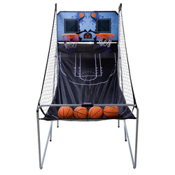 ZENY™ Foldable Indoor Electronic Double Shootout Basketball Arcade Game 4 Balls For Kids And Adults