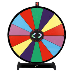 "ZENY™ 24"" Round Color Spinning Prize Wheel Spin to Win Game Kit Editable Magnetic Board with Dry Erase Marker"