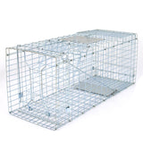 "ZENY™ Live Animal Cage Trap 24""/31"" Steel Cage Catch Release Humane Rodent Cage"