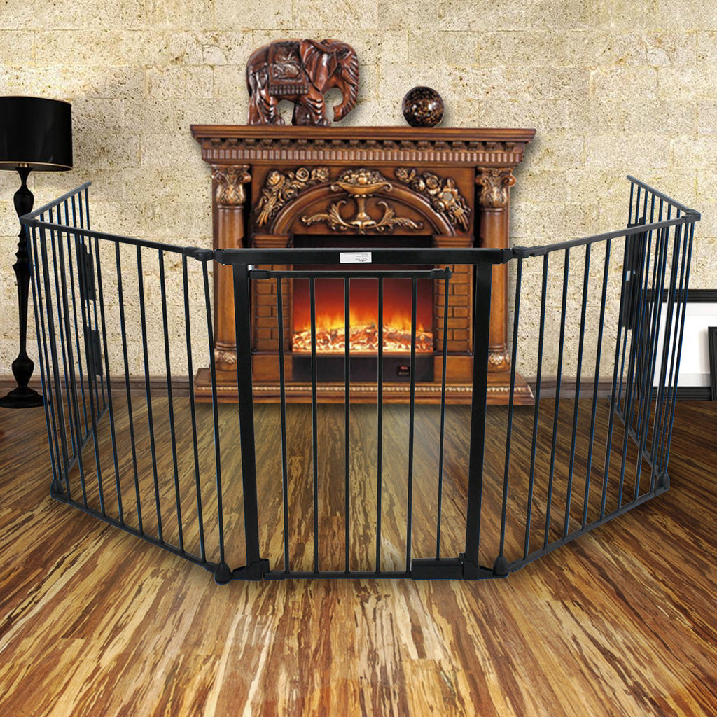 Baby Fireplace Gate Part - 37: ZENY™ Fireplace Fence Baby Safety Fence Hearth Gate BBQ Metal Fire Gate Pet  Dog Cat