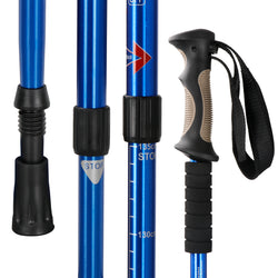ZENY™ Portable Trekking Poles 2 Pack Lightweight Aluminum Hiking Walking Trail Poles Walking Sticks with Anti-Shock Mechanism and Ergonomic Grips,Length Adjustable from 25.5'' Up to 53'',1 Pair