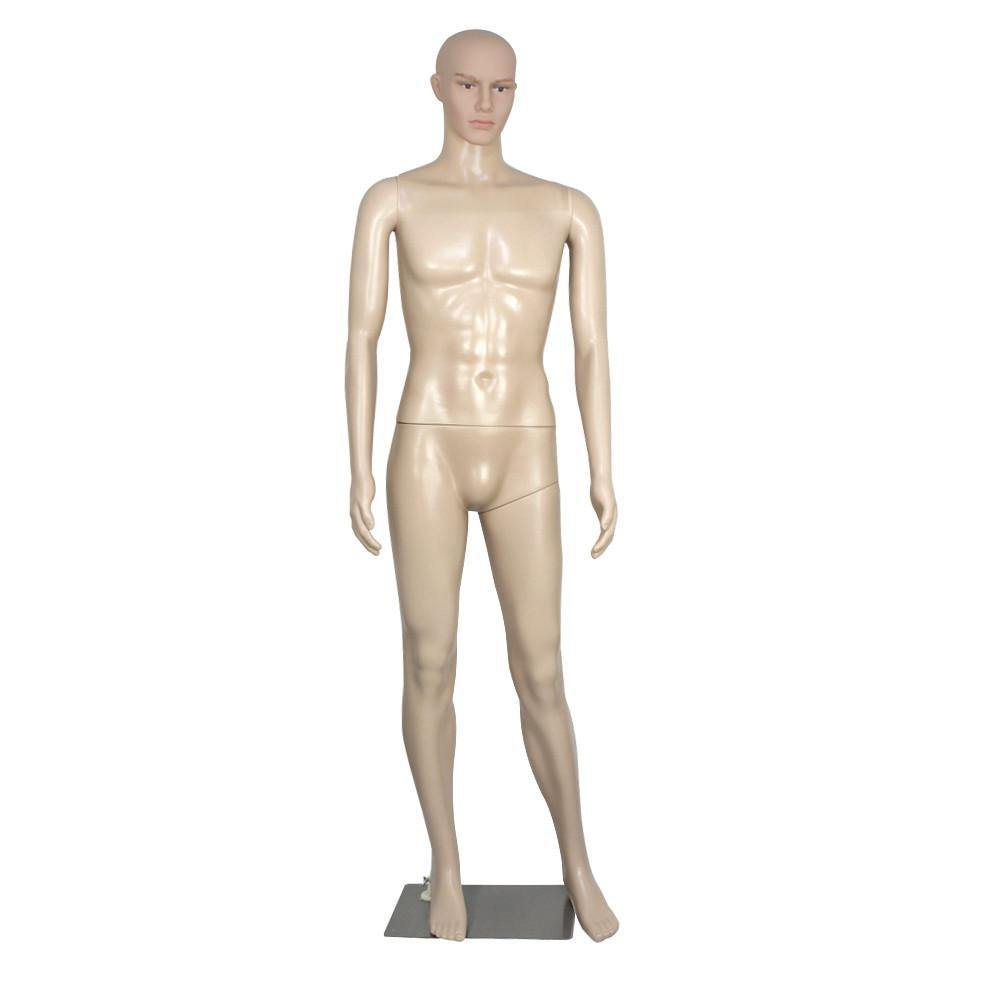 ZENY™ Female/Male  Mannequin Plastic Realistic Display Head Turns Dress Form w/ Base