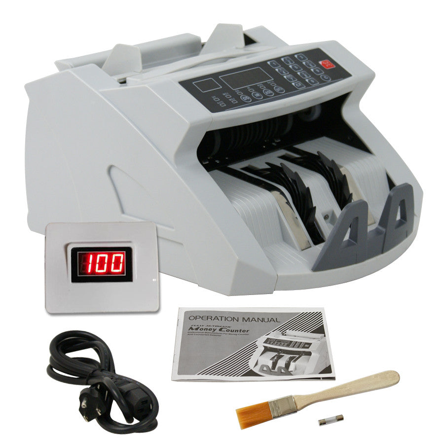 ZENY™ Money Bill Counter Detector Display Currency Cash Counter Bank Machine, Banknote UV and MG Counterfeit Bill Detection