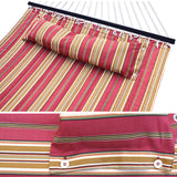 ZENY™ Hammock Quilted Fabric with Pillow Double Size Spreader Bar Heavy Duty New